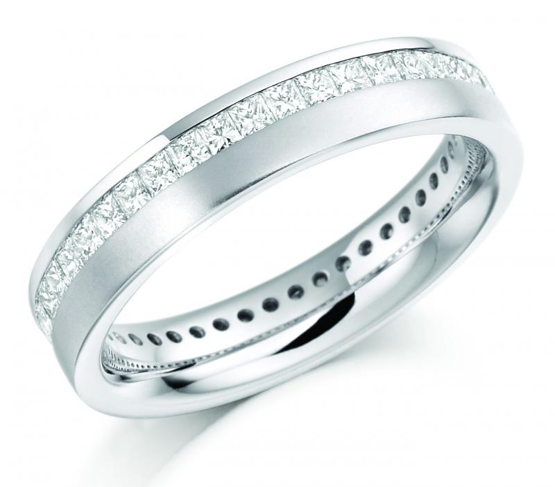 Fancy Cut Full Diamond Eternity Rings