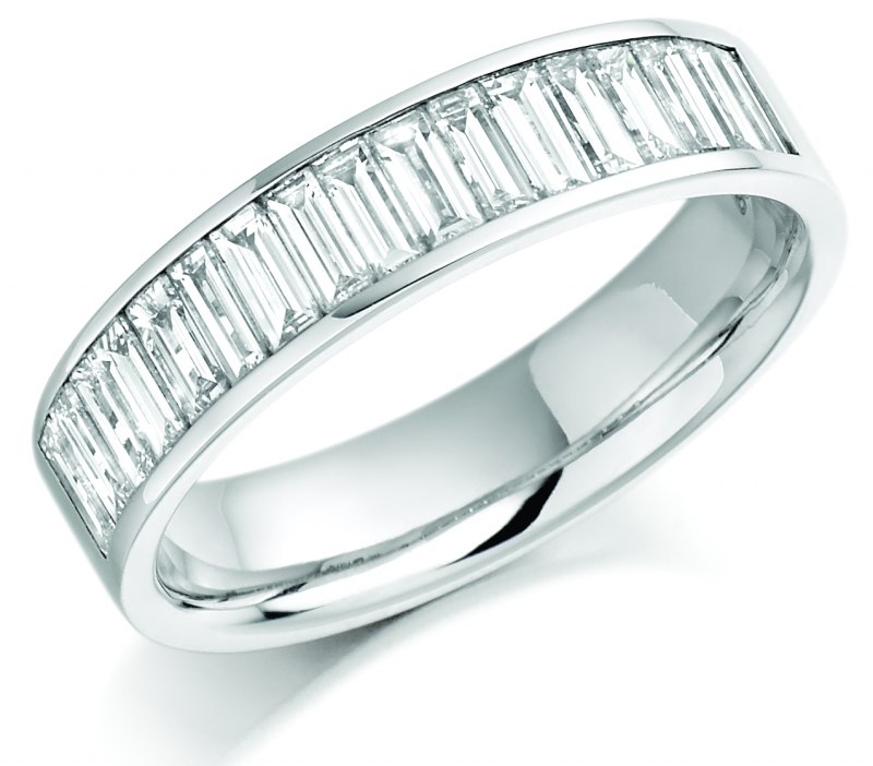 views baguette pn polished platinum milgrain eternity diamond band cut ring bands more ct edge
