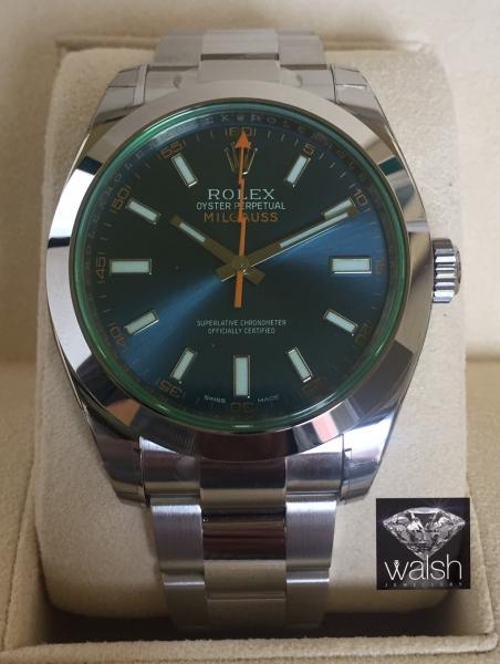 Rolex 116400GV blue